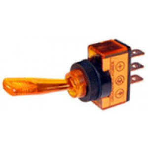 SWITCH TOGGLE AMBER 20amp [219]