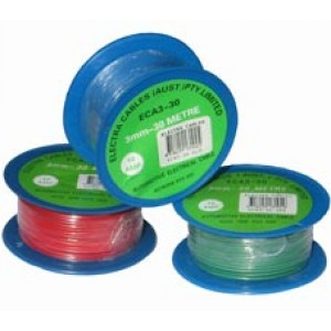 3mm x 30m BLACK AUTO WIRE 10 amp