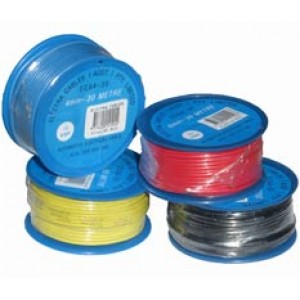 4mm x 30m WHITE AUTO WIRE 15amp