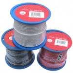 5mm x 30m BLACK AUTO WIRE 25amp