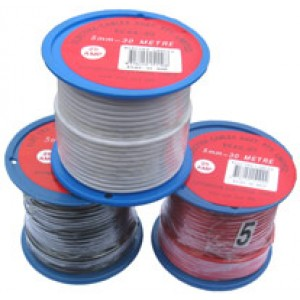 5mm x 30m WHITE AUTO WIRE 25amp