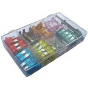 KIT MINI BLADE FUSE ASSORTED [100 pcs]