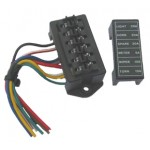 BLADE FUSE BOX 6way WITH LEADS