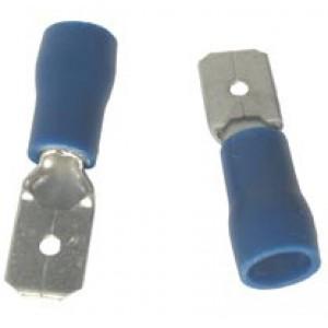 BLUE MALE SPADE 6.3mm [100]