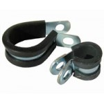 S/STEEL P CLIP 8mm CLAMP RUBBER SLEEVE