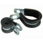 S/STEEL P CLIP 6mm CLAMP RUBBER SLEEVE