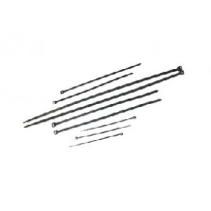 CABLE TIES  BLACK UV 200mm x 4.8mm [20]