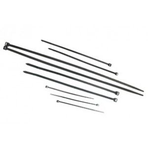 CABLE TIES  BLACK UV 300mm x 4.8mm [100]