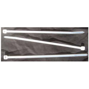 CABLE TIES  WHITE 300mm x 4.8mm [100]