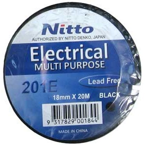 INSULATION TAPE NITTO 20m BLACK 201