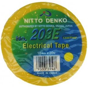 INSULATION TAPE NITTO 20m YELLO 203