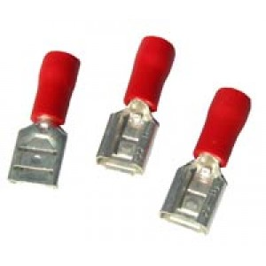 RED FEMALE SPADE 4.8mm [100]