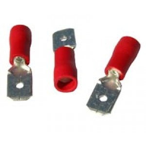 RED MALE SPADE 6.3mm [100]