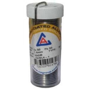 SOLDER 5050 RESIN CORE 1.6mm 40gram