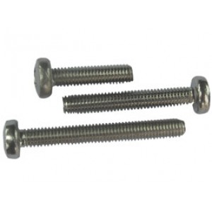STAINLESS SCREW PAN 4mm x 25mm [10]