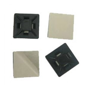 ADHESIVE TIE MOUNT 21mm² BLACK [100]