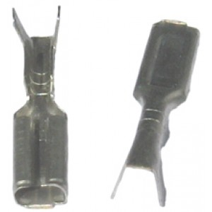UNINSULATED FEMALE SPADE 2.8mm [100]