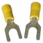 YELLOW FORK TERMINAL 4mm [100]