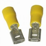 YELLOW FEMALE SPADE 6.3mm [100]