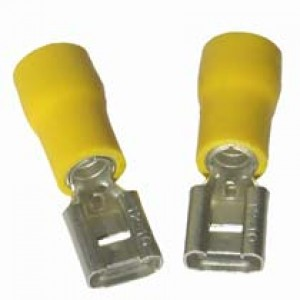 YELLOW FEMALE SPADE 9.6mm [100]