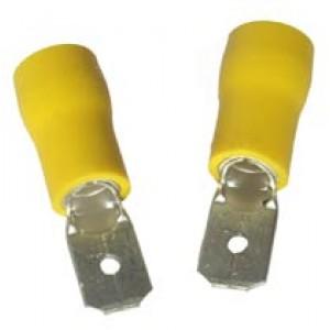YELLOW MALE SPADE 6.3mm [100]